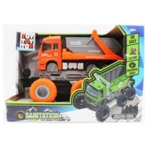 Bigfoot teherautó konténerszállító lendkerekes narancs fém