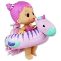 Bloopies felhúzható strandbébi lila haj, lila úszógumi