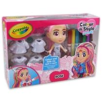 Crayola Colour 'n' Style Dolls Deluxe Rose Dekorálható baba
