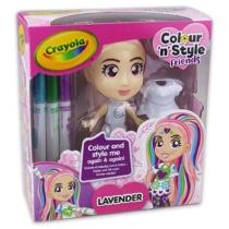 Crayola Colour 'n' Style Friends Lavender Dekorálható baba