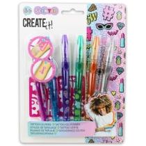Create it! Zselés, illatos tetováló tollszett 6 db-os