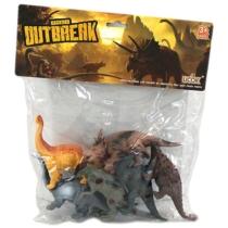 Dinoszaurusz gyűjtemény műanyag zacskós sötét 6 db-os