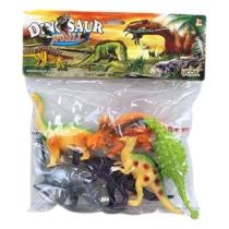 Dinoszaurusz gyűjtemény műanyag zacskós világos 6 db-os