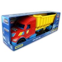 Dömper billenthető platóval világítós lámpával műanyag színes Magic Truck 77 cm