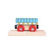Fa vagon kék pályaelemmel Bigjigs