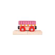 Fa vagon pink pályaelemmel Bigjigs