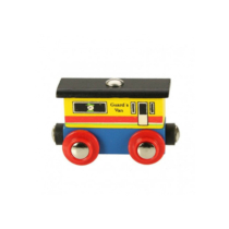 Fa vagon sárga Bigjigs