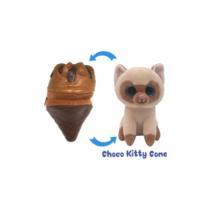 Fagyi cicák Choco Kitty Cone barna