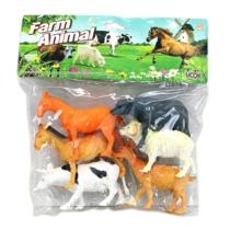 Farm állatok gyűjtemény műanyag zacskós 6 db-os