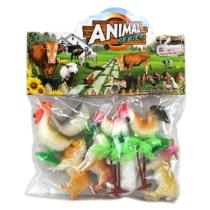 Farm állatok gyűjtemény műanyag zacskós 8 db-os