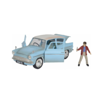Fém autó 1959 Ford Anglia Harry Potter fém figurával 1:24