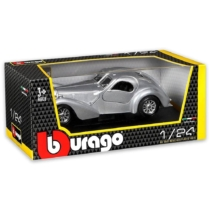 Fém autó Bugatti Atlantic ezüst 1:24 Bburago