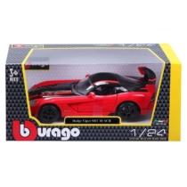 Fém autó Dodge Viper SRT 10 ACR piros 1:24 Bburago