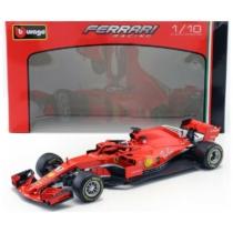 Fém autó F1 Ferrari SF18 Kimi Raikkönen piros 1:18 Bburago