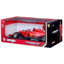 Fém autó F1 Ferrari SF18 Sebastian Vettel piros 1:18 Bburago