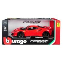 Fém autó Ferrari 488 Pista piros 1:24