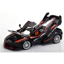 Fém autó Ferrari FXX K fekete 1:18