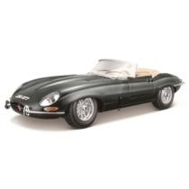 Fém autó Jaguar E-Type Cabriolet fekete 1:18