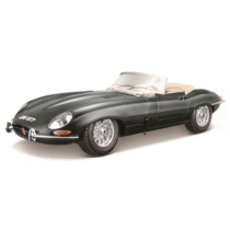 Fém autó Jaguar E-Type Cabriolet fekete 1:18 Bburago