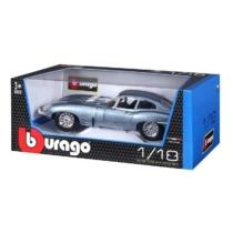 Fém autó Jaguar E-Type Coupe világoskék 1:18 Bburago