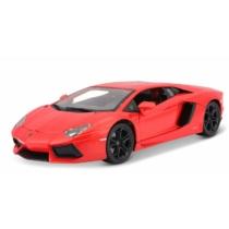 Fém autó Lamborghini Aventador piros 1:18 Bburago