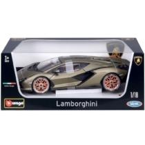 Fém autó Lamborghini Sián FKP 37 olajzöld 1:18