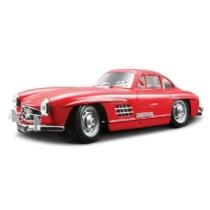 Fém autó Mercedes 300 SL 1954 piros 1:24 Bburago