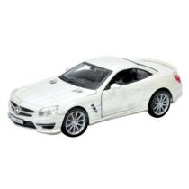 Fém autó Mercedes-Benz SL 65 AMG Hardtop fehér 1:24 Bburago