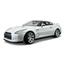 Fém autó Nissan GT-R 2009 R35 fehér 1:18