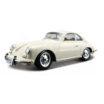 Fém autó Porsche 356B Coupe 1961 fehér 1:24 Bburago