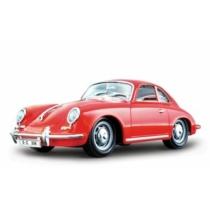 Fém autó Porsche 356B Coupe piros 1:24