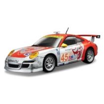 Fém autó Porsche 911 GT3 RSR narancs-ezüst 1:24 Bburago