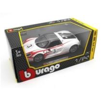 Fém autó Porsche 918 Weissach fehér-piros 1:24 Bburago