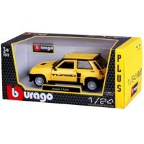 Fém autó Renault 5 Turbo sárga 1:24