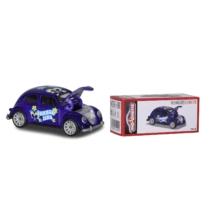 Fém kisautó VW Beetle Summertime kék
