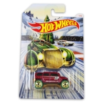 Fém kisautó bordó Rockster Hot Wheels