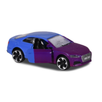 Fém kisautó színváltós Audi S5 Coupé kék és lila