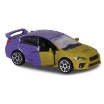 Fém kisautó színváltós Subaru WRX STI zöld és lila