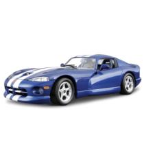 Fém makett autó Dodge Viper GTS Coupe 1996 Metal KIT kék 1:24 Bburago