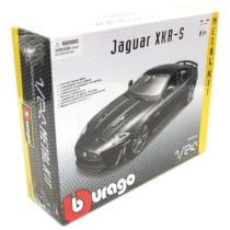 Fém makett autó Jaguar XKR-S Metal KIT fekete 1:24 Bburago