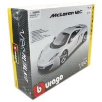 Fém makett autó McLaren 12C Metal KIT fehér 1:24 Bburago