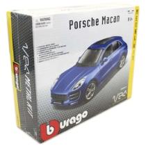 Fém makett autó Porsche Macan Metal KIT kék 1:24 Bburago
