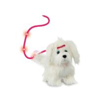 Fluffy sétáló szőrgombóc plüss elektromos kutya