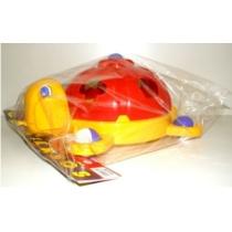 Formaválogató teknős műanyag piros