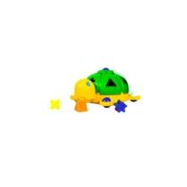 Formaválogató teknős műanyag zöld
