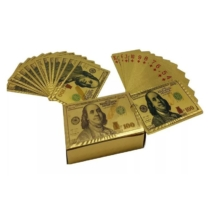 Francia kártya arany mintás dolláros hátlappal