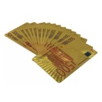 Francia kártya arany mintás eurós hátlappal