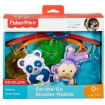 Függőjáték állatkákkal forgóval hordozható Fisher Price