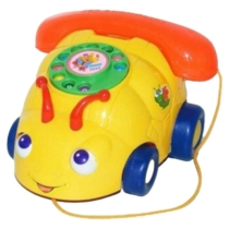Guruló telefon szemes sárga