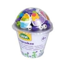 Gyöngyfűző készlet 170 db-os muffin formákkal 3 medállal és 3 fűzővel lila